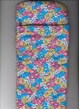 Homemade Doll Clothes-Pretty Flowered Print Sleeping Bag for Ken,Barbie,Elf Doll