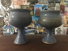 New listing 2 Ceramic Goblets/ Chalices / Cups