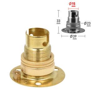 ElekTek SBC B15 Small Bayonet Cap Miniature Batten Lamp Holder - Choose Colour