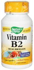 Natures Way, Vitamina b-2 Riboflavina, 100mg, x100caps cápsulas