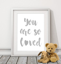 You Are So Loved  Print nursery children's quote baby kids wall art picture