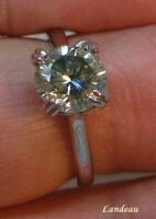1.83 ct Light Green Diamond Ring