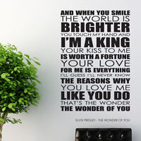 Oasis wall art sticker Wonderwall Lyrics decal music quote l32