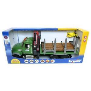 1/16th Bruder Mack Granite Log Truck with  Knuckleboom Grapple Crane 02824