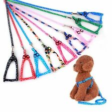 Small Pet Dog Puppy Cat Kitten Harness lead leash included pink blue black red