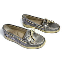 Sperry Top Sider Boat Shoes Gray Womens Size 7 M Sparkle Loafers 9180191