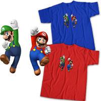 Super Mario Bros Luigi Jump Nintendo Game Mens Womens Kids Unisex Tee T-Shirt