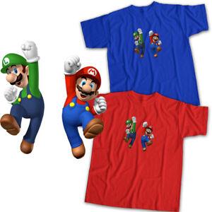Super Mario Bros Luigi Jump Fun Cute Game Mens Womens Kids Unisex Tee T-Shirt