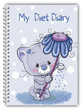 A5 DIET DIARY SLIMMING TRACKER FOOD DIARY WEIGHT LOSS JOURNAL MY DIET DIARY BEAR