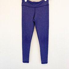 Ivivva Lululemon Girls Youth 8 Active Leggings Blue Herringbone Full Length