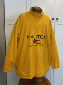 Men's Nautica AMERICAS CUP 2003 Pull Over Thick Shirt Pockets 3XL