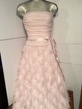 B. Smart Beautiful Tulle Embellished Fairy Dust Pink Strapless Prom Gown 5/6 New