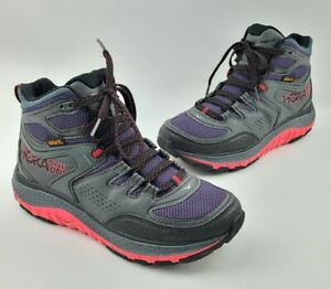 Hoka One One Tor Tech Mid WP Hiking Boots Women's Size 7.5 US, Teaberry/Red