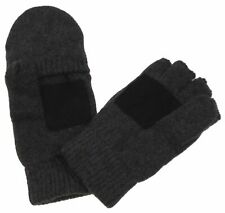 Gray Structure Wool Convertible Gloves Mittens 3M Thinsulate Insulation Mens O/S