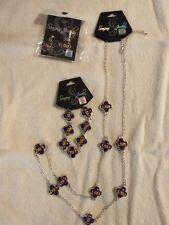LSU jewelry set   dangle earrings, bracelet, & necklace NIP