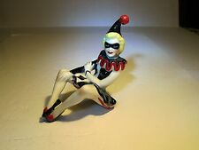 CAS Ceramic Arts Studio Red/Black/White Pierette Jester Clown Shelf Sitter