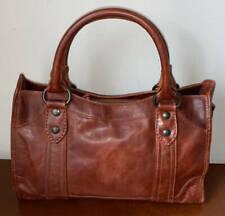 Frye Leather Melissa Satchel Handbag ~ Red Clay