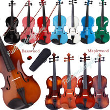 More details for multi-style 1/8 1/4 3/4 4/4 size acoustic violin set for students beginner gift