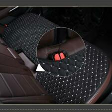 1PCS Black PU Leather Car Back Seat Cover Rear Cushion Mat Non-slip White Seam