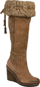 Dr. Scholl's Women's Builder Malt Taupe Knee High Suede Boots Size 6-11 M1250