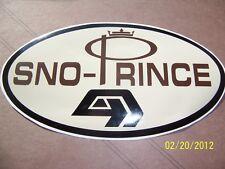 "4"" X 7.25""  Vintage SNO-PRINCE Sticker (New Black, Brown and Tan Vinyl )"
