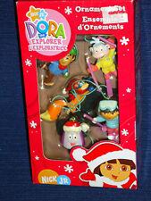 New!  Set of 5 Nick Jr. DORA The EXPLORER Christmas Ornament w/Box
