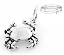 "STERLING SILVER ""CRAB "" CHARM/PENDANT WITH SPLIT RING"