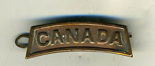 Old Canadian Military Badge with Canada Name
