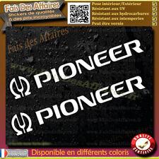 2 Stickers Autocollant Pioneer sponsor lot planche sticker car audio decal