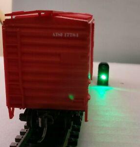 SET OF 4 TRACK MARKER SIGNAL LIGHTS W/RESISTORS  HO SCALE USA MADE