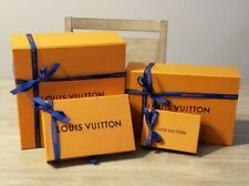 Authentic Louis Vuitton Empty Magnetic and slide out Boxes with ribbon lot of 4