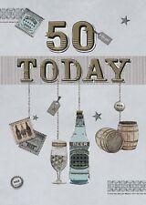 Birthday Card - Happy 50th birthday Man - Wishing Well (A31)