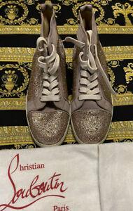 NEW 100% Authentic Christian Louboutin Orlato Flat Satin Strass Size 41 US 8