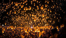 1X Chinese Sky Light Kongming Lanterns Flying Candle Lamp For Wish Party Wedding