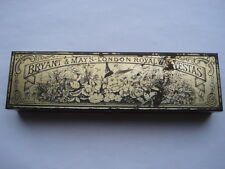 C1880S VINTAGE BRYANT & MAYS LONDON ROYAL WAX VESTAS SWALLOW&FLOWERS MATCH TIN