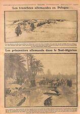 Trenches Deutsches Heer Poland Prisonniers Feldgrauen Seguia Algérie WWI 1915
