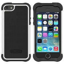 Ballistic Tough Jacket Series Case Cover For  iPhone SE / 5 / 5S  Black/White