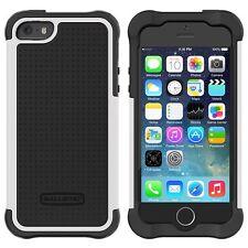 Ballistic Tough Jacket Series Case Cover For  iPhone SE / 5 / 5S  Black/White