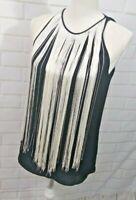 Theory Women S Top Sting Collar Black Blouse Tank Blouse Sleeveless Beautiful