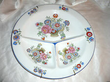 CZECHOSLOVAKIA White BLOCK Tradition PORCELAIN Plate DIVIDED Beautiful ARTWORK