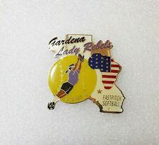 Asa Afa Fastpitch Softball Lapel Hat Pin - Gardena California Lady Rebels