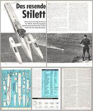 Bauplan Rennboot Fesselrennboot STILETTO - Original von 1964