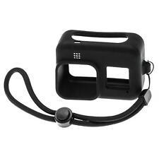 Silikon Hülle Case schwarz + Trageband für GoPro Hero 8