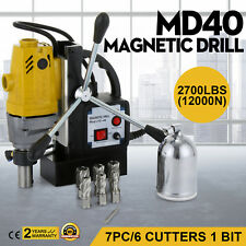 "Magnetic Drilling Machine Mag Drill Kit w/7PC 1"" HSS Cutter Kit Power Tools"