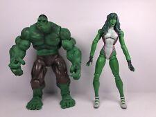Marvel Legends Hulk & She Hulk 2006 Hasbro Bundle Of 2 Action Figures Lot
