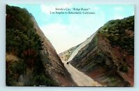 LA to BAKERSFIELD, CA - OLD CAR AT SWEDES CUT - RIDGE ROUTE UNUSED POSTCARD