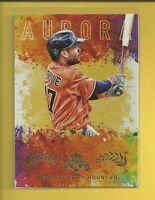 Jose Altuve 2017 Diamond Kings Aurora Insert Card # A-9 Houston Astros Baseball