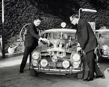 Paddy Hopkirk Mini Cooper and Trophies 10x8 Photo