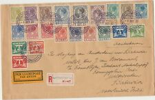 Netherlands Indies 1927 early airmail flight registered cover Amsterdam  Batavia