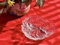 Vintage Indiana Clear Glass Loganberry Raised Berries & Leaves Candy Dish Bowl